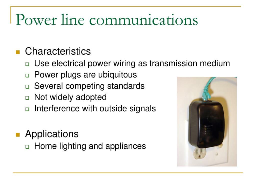 Power line communications