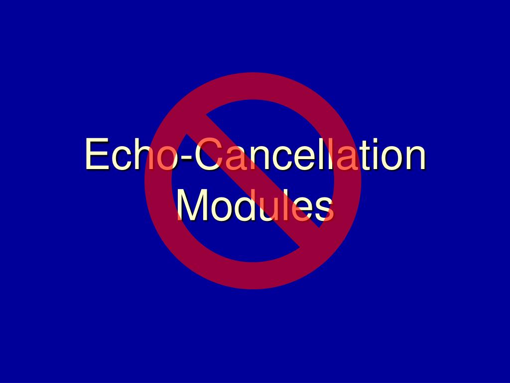 Echo-Cancellation