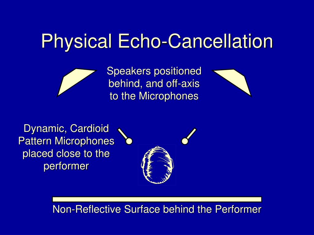 Physical Echo-Cancellation