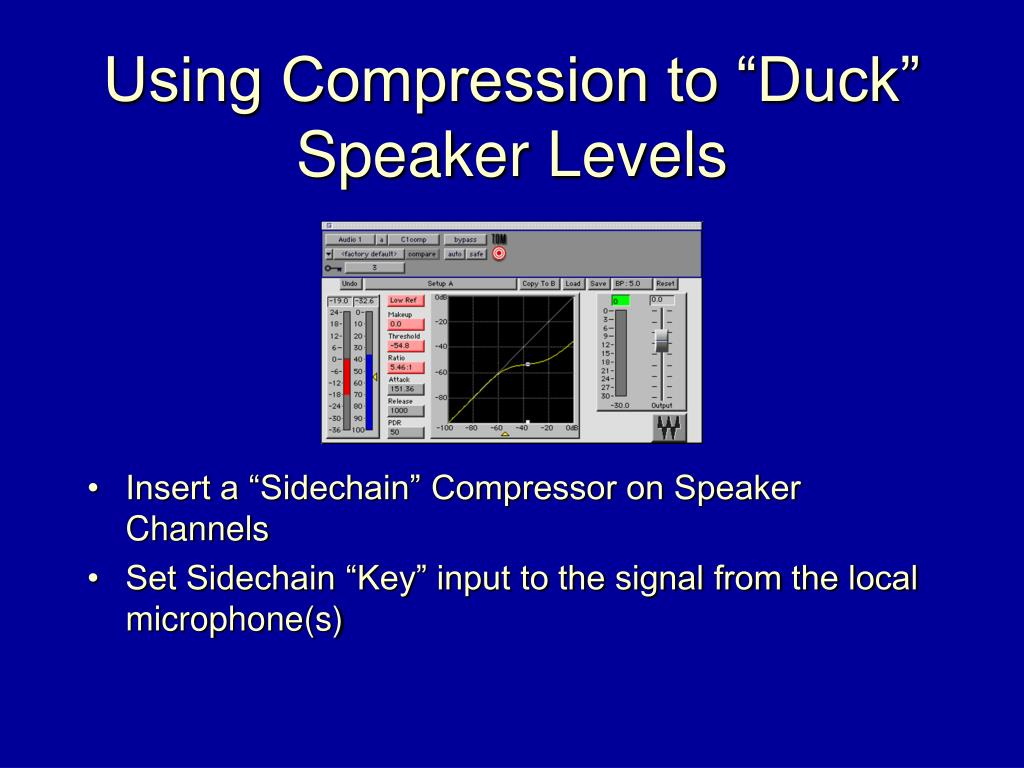 "Using Compression to ""Duck"""