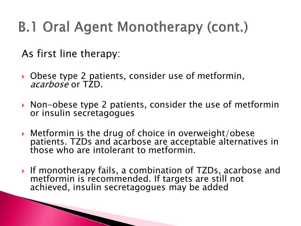 B.1 Oral Agent