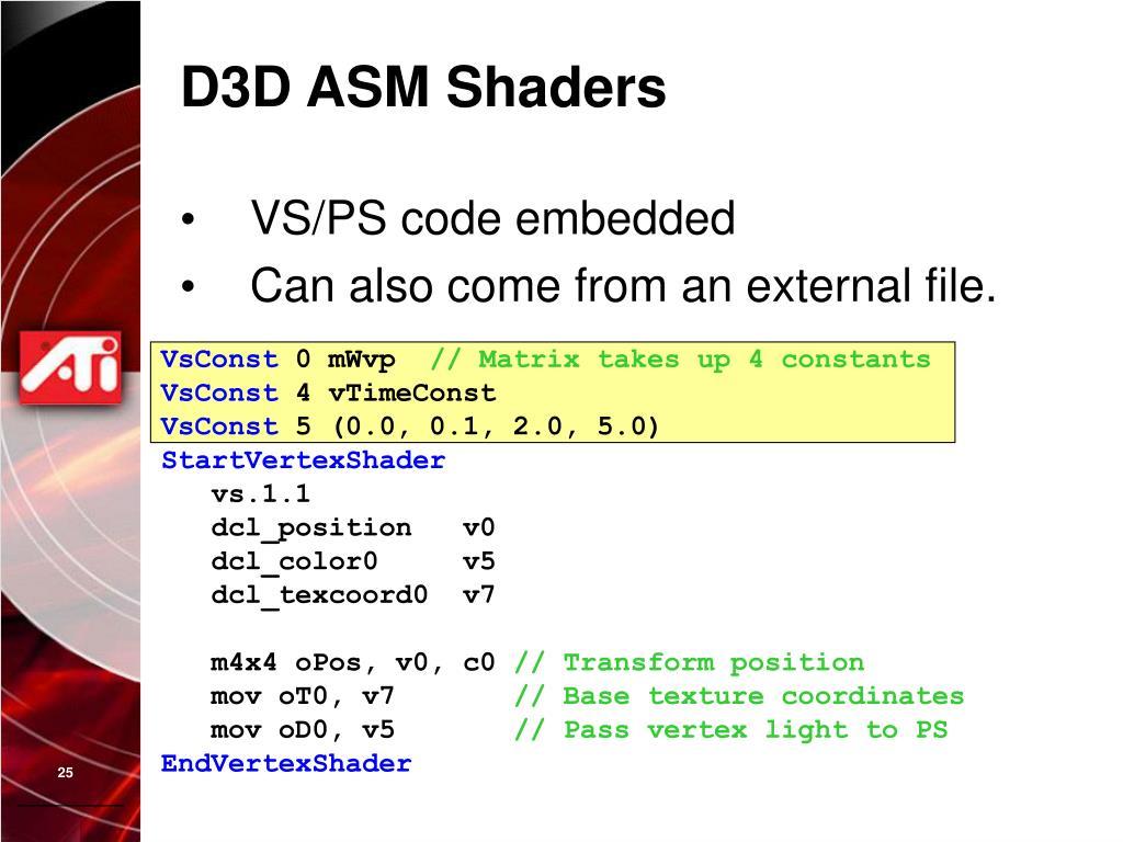 D3D ASM Shaders