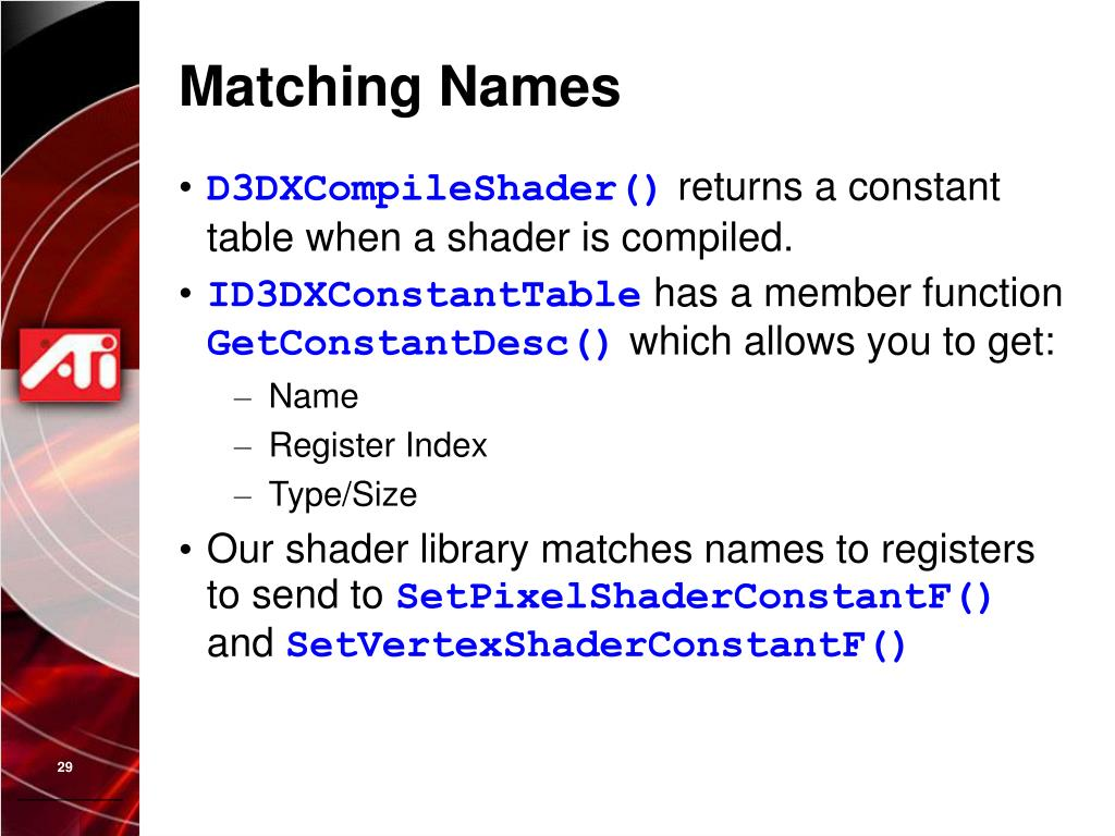 Matching Names