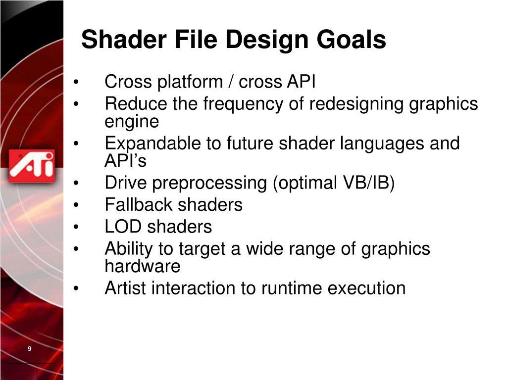 Shader File Design Goals
