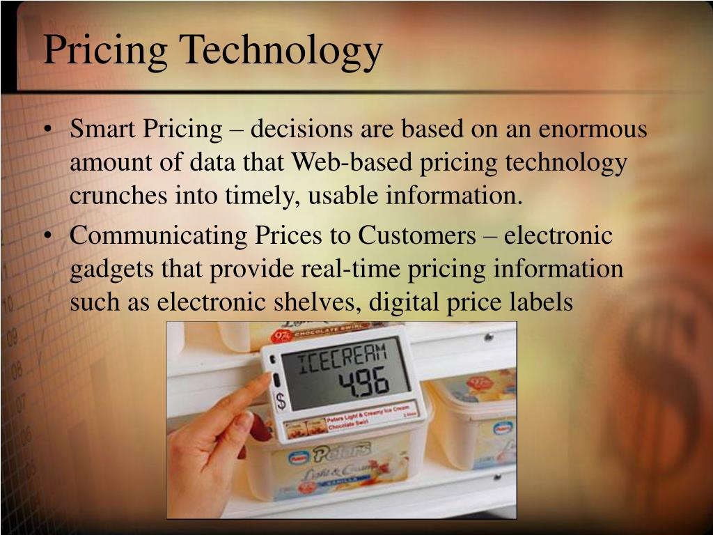 Pricing Technology