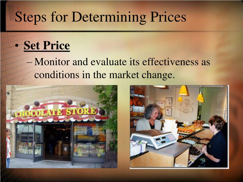 Steps for Determining Prices