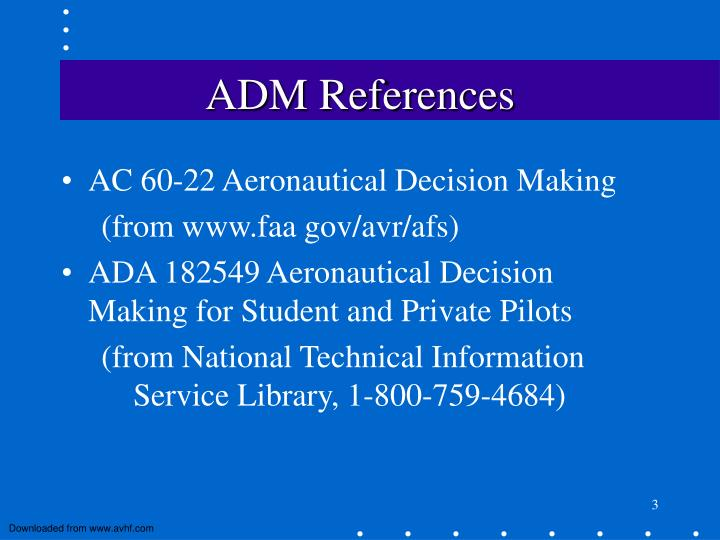 Adm references
