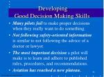 developing good decision making skills48