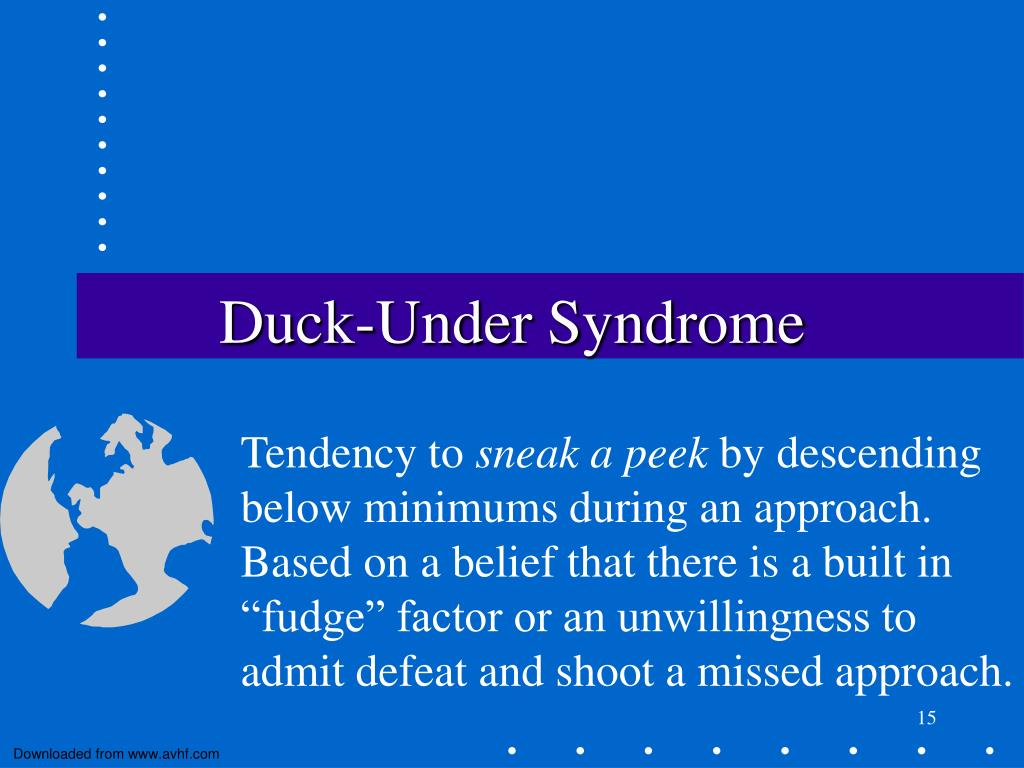 Duck-Under Syndrome