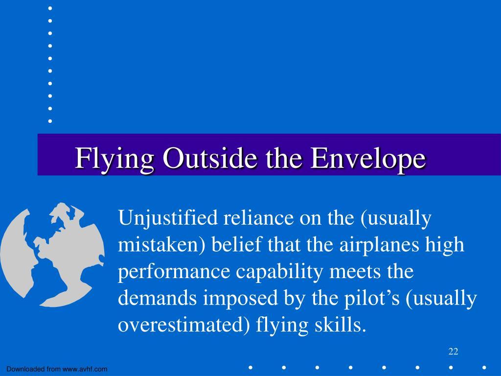 Flying Outside the Envelope