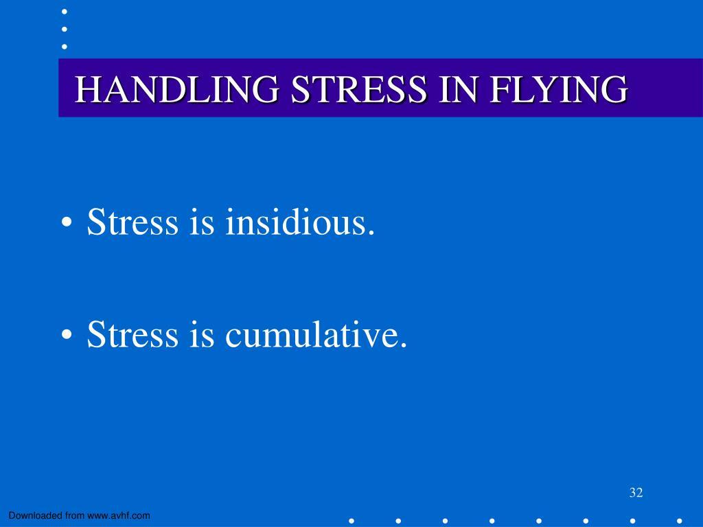 HANDLING STRESS IN FLYING