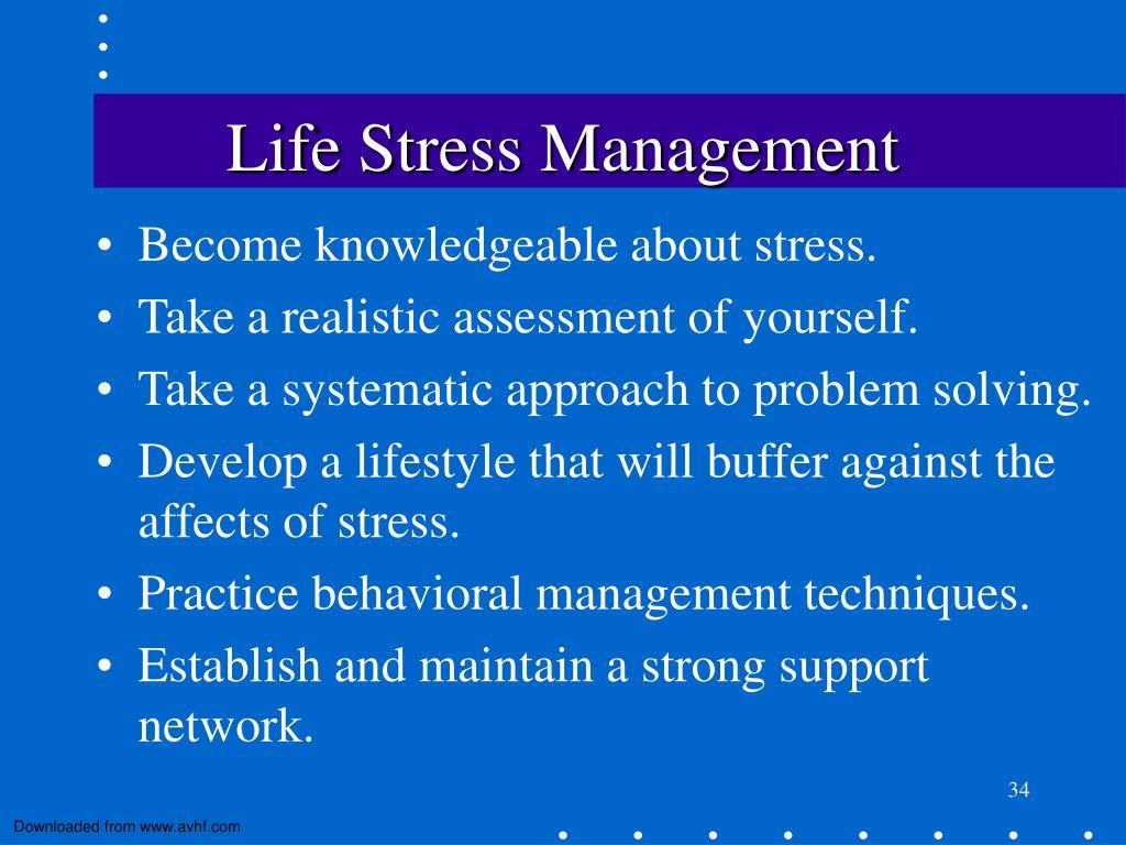 Life Stress Management