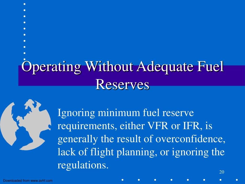 Operating Without Adequate Fuel Reserves