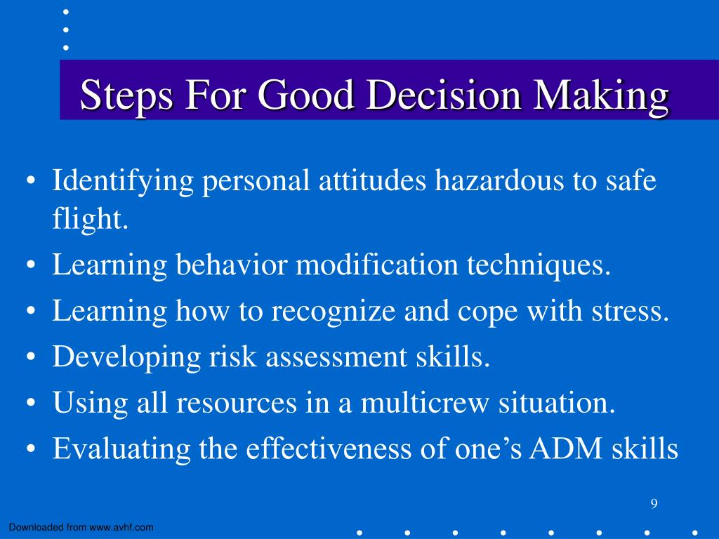 Steps For Good Decision Making