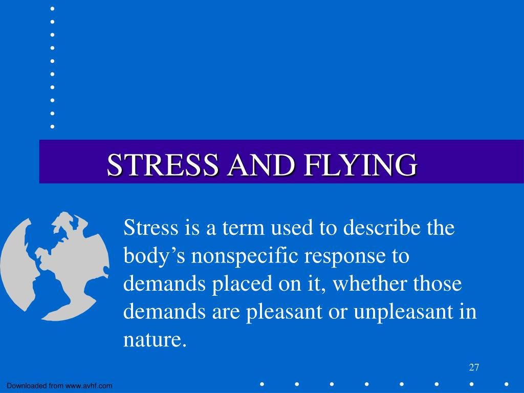 STRESS AND FLYING