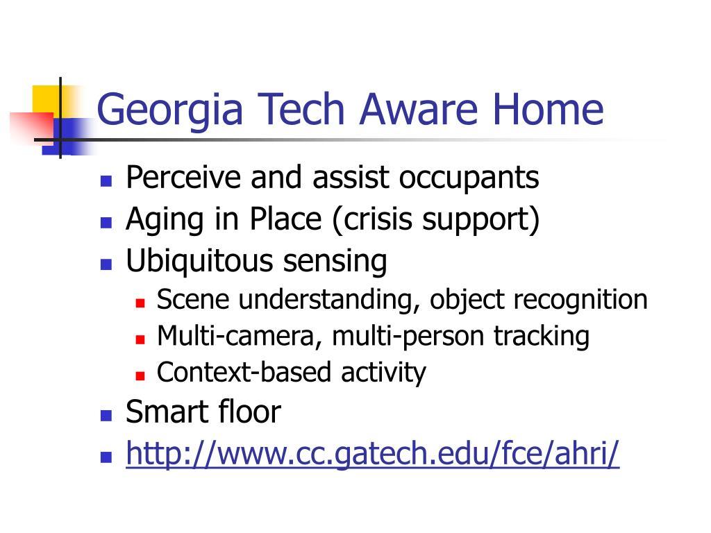 Georgia Tech Aware Home
