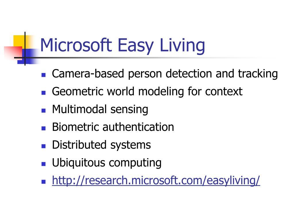 Microsoft Easy Living