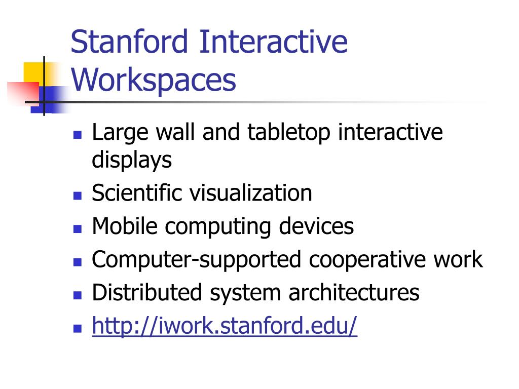 Stanford Interactive Workspaces
