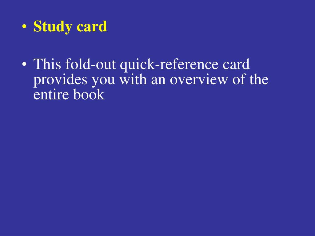 Study card