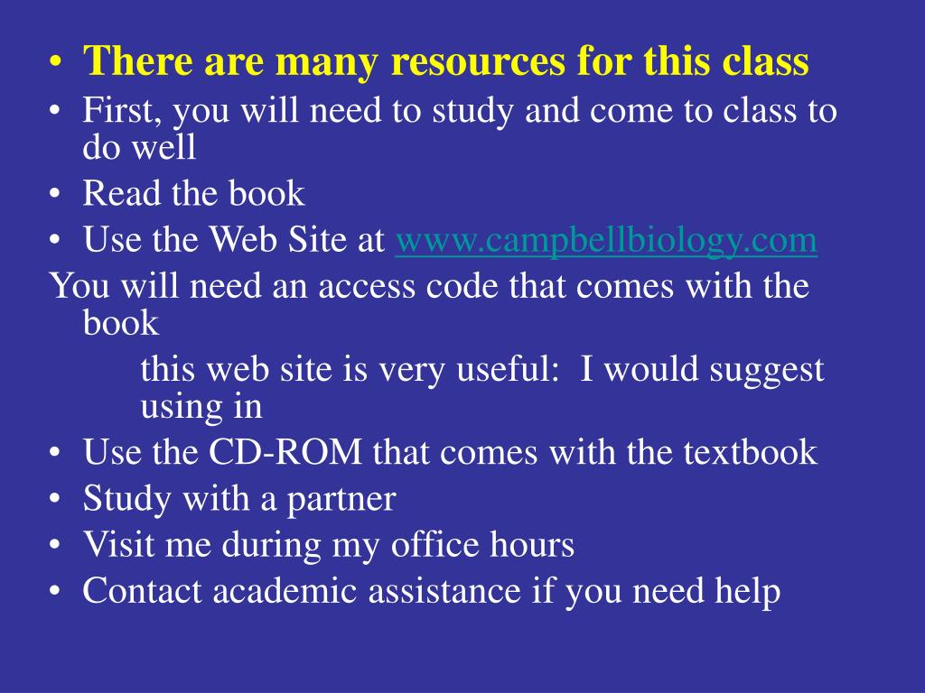There are many resources for this class