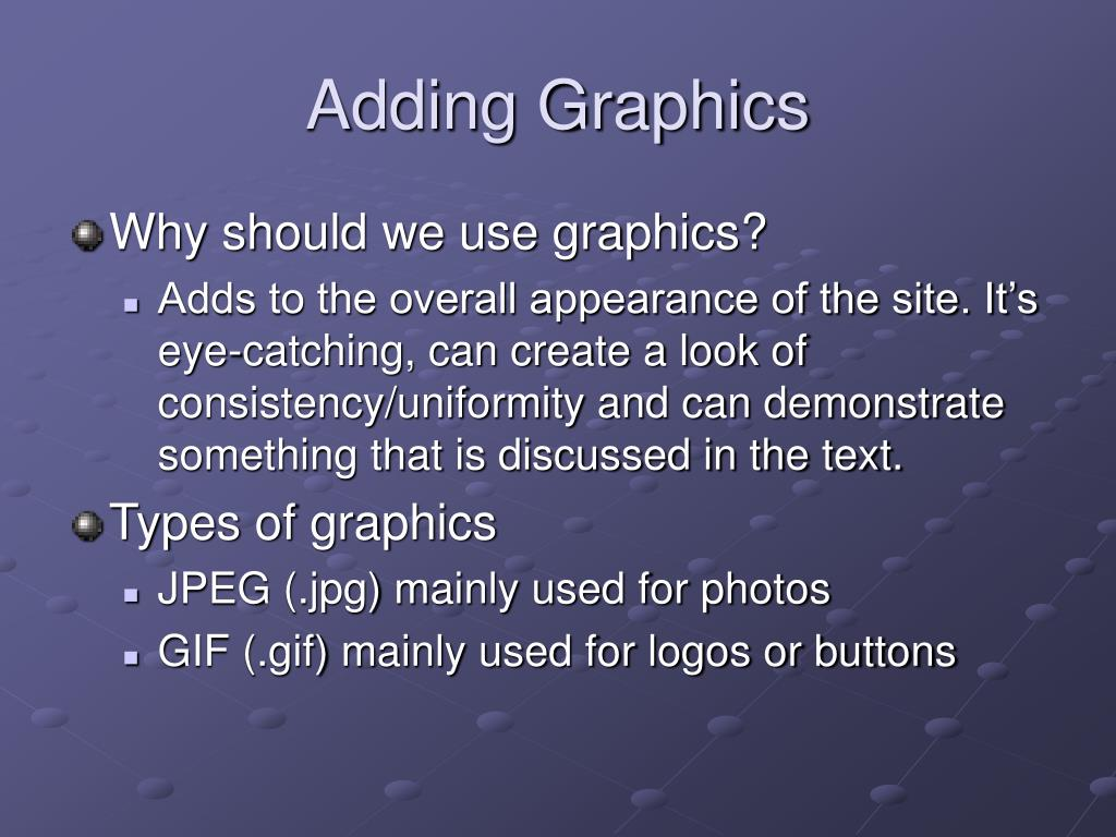 Adding Graphics