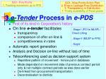 3 e tender process in e pds