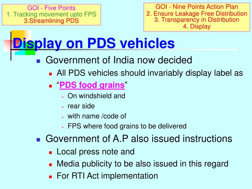 GOI - Nine Points Action Plan