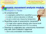 economic movement analysis module