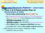 integrated electronic platform 3x3x3 matrix