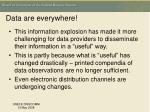 data are everywhere