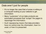 data aren t just for people