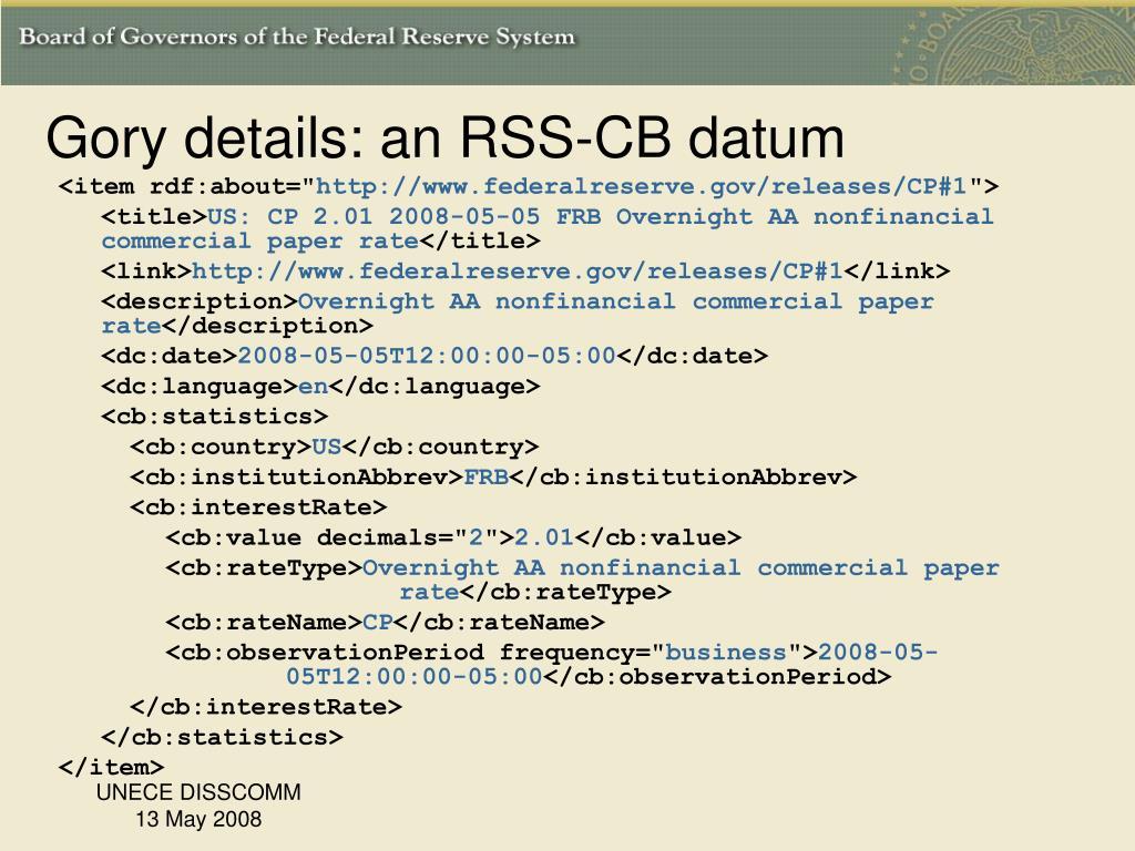Gory details: an RSS-CB datum