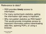 relevance to data