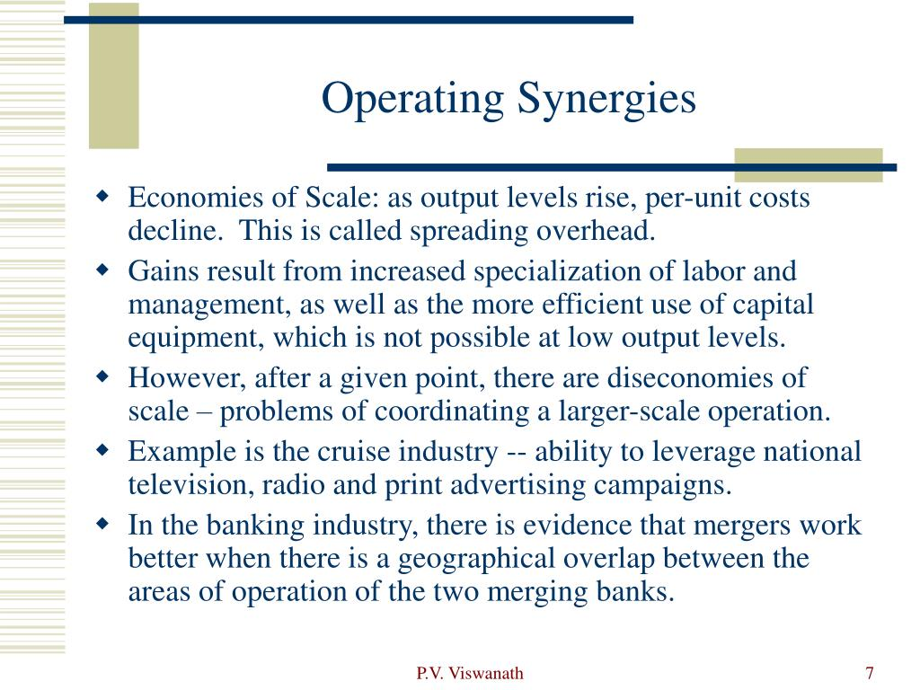 Operating Synergies