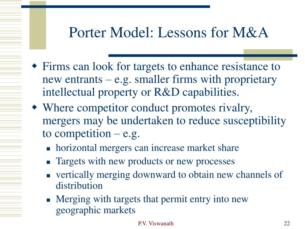 Porter Model: Lessons for M&A