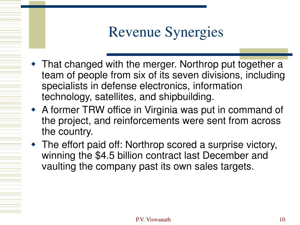 Revenue Synergies