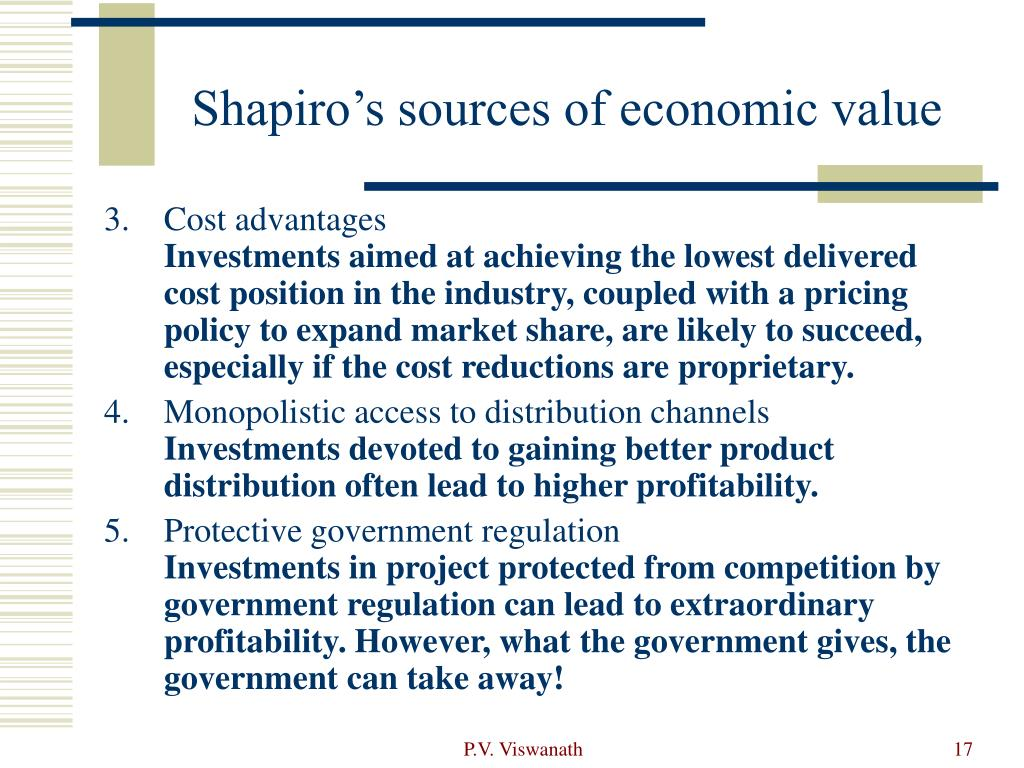 Shapiro's sources of economic value