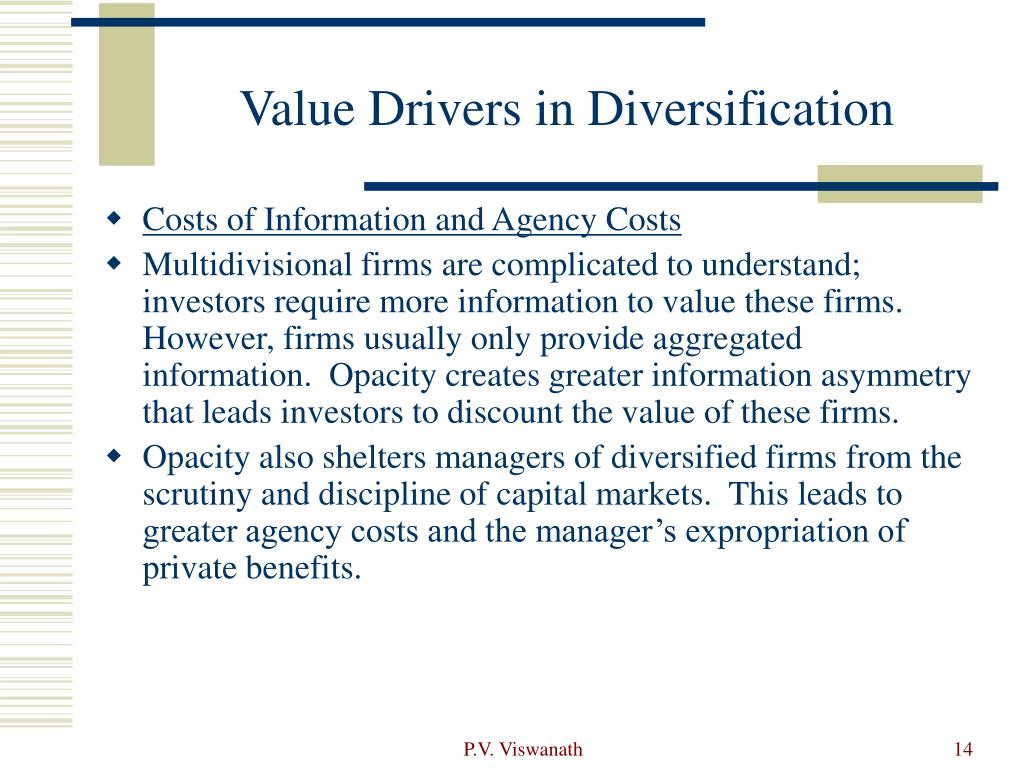 Value Drivers in Diversification