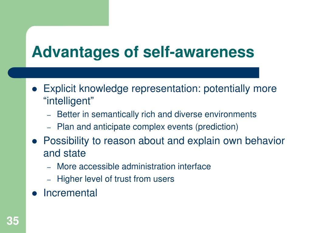 Advantages of self-awareness