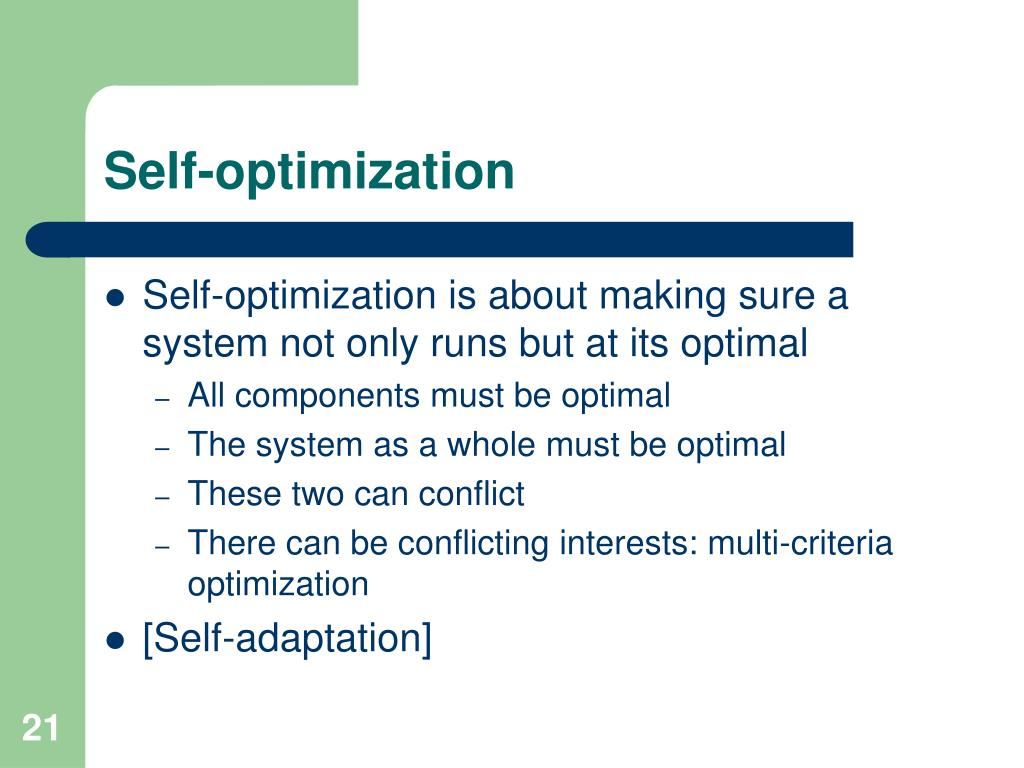 Self-optimization