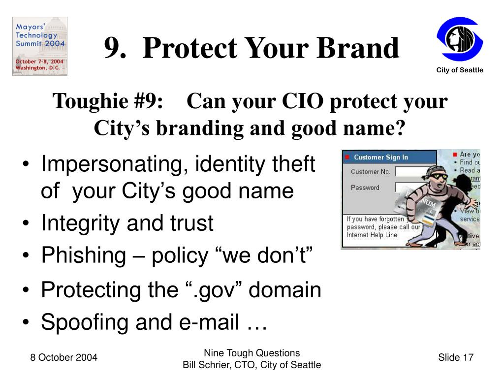 9.  Protect Your Brand