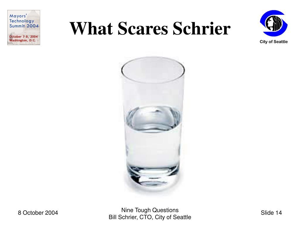 What Scares Schrier