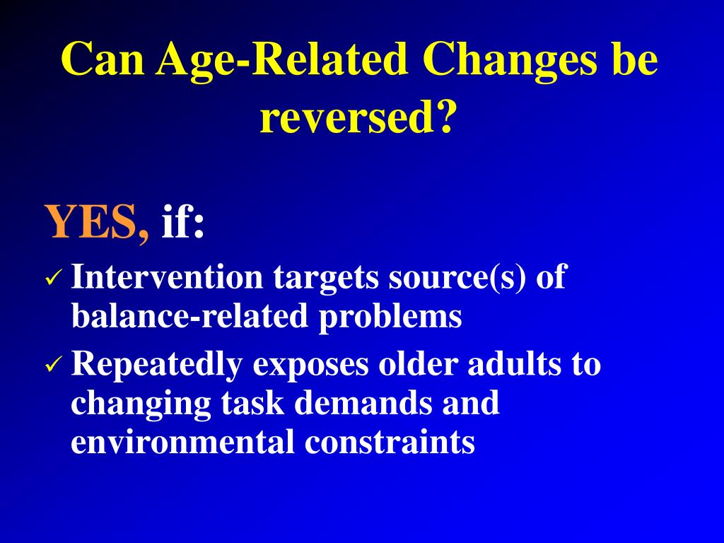Can Age-Related Changes be reversed?
