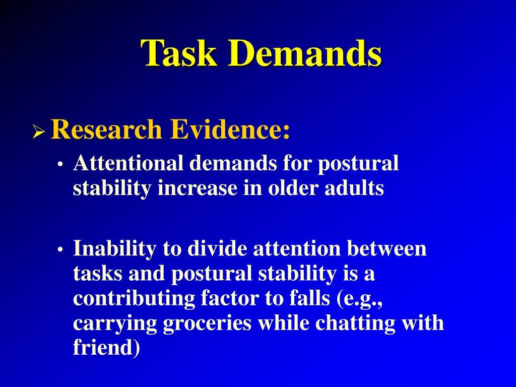 Task Demands