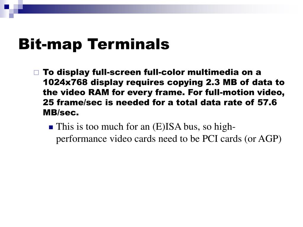 Bit-map Terminals