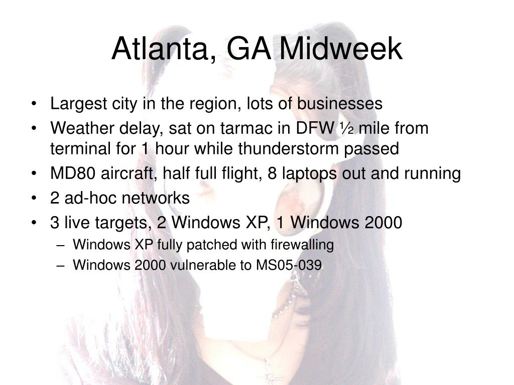 Atlanta, GA Midweek