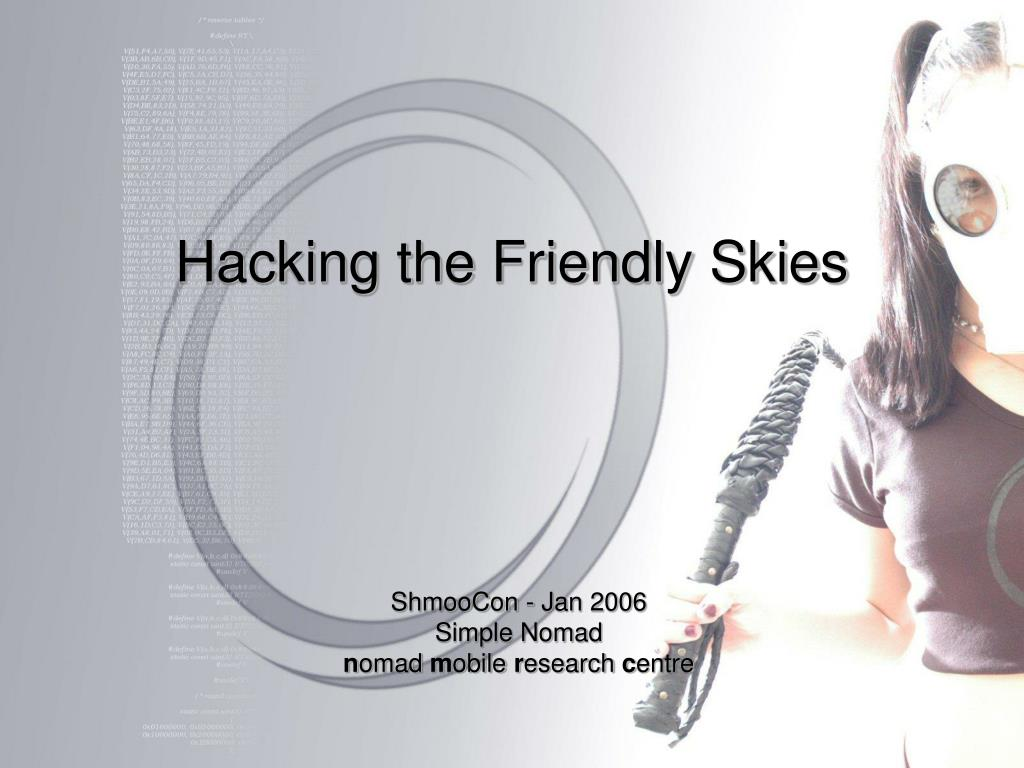 hacking the friendly skies