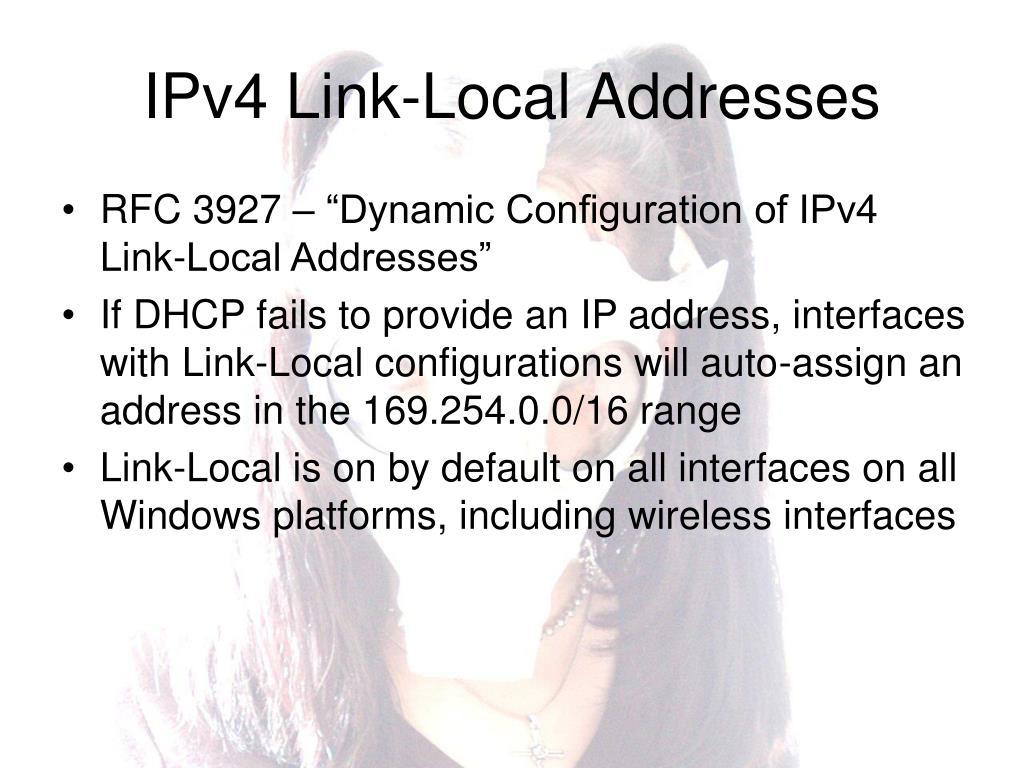 IPv4 Link-Local Addresses