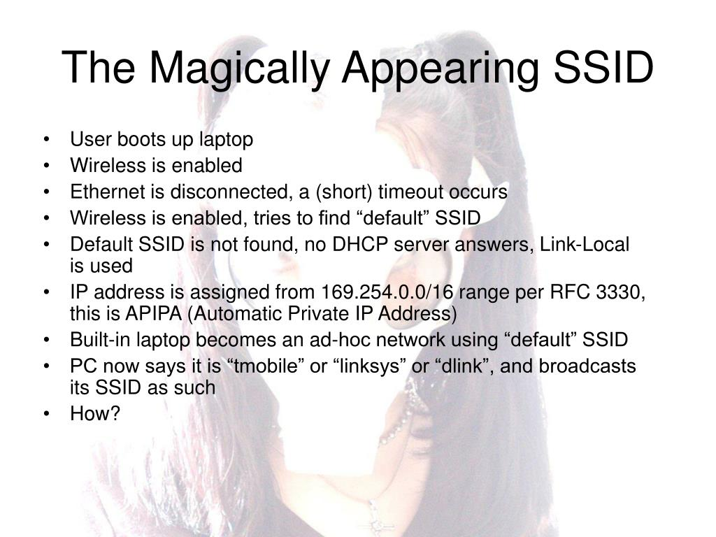 The Magically Appearing SSID