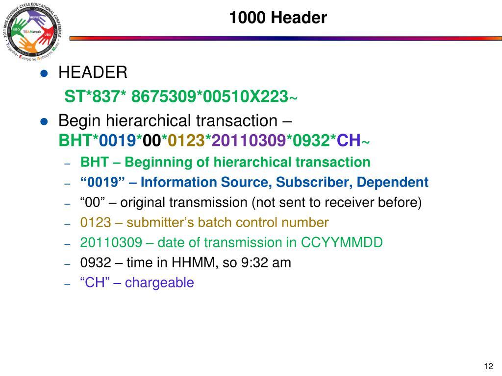 1000 Header